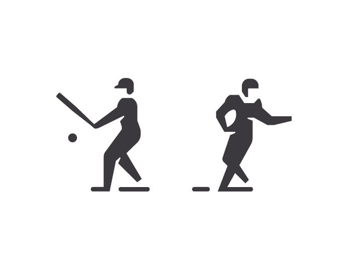 Sports Icon Design by Sascha Elmers #icon #icondesign #iconic #picto #pictogram #symbol #sports #baseball #football