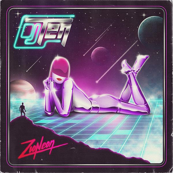 Dj Ten front cover for the album Zioneon #illustration
