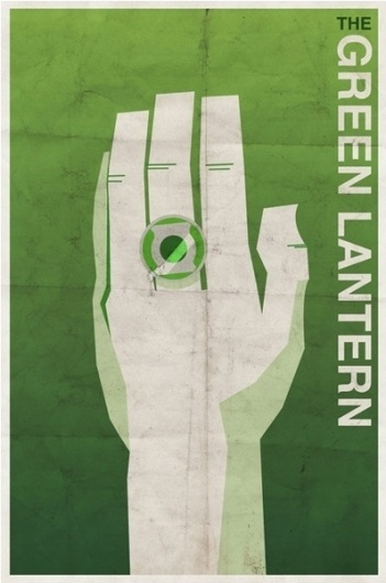 Vintage Style Comic Character Posters | Paper Crave #lantern #vintage #poster #green