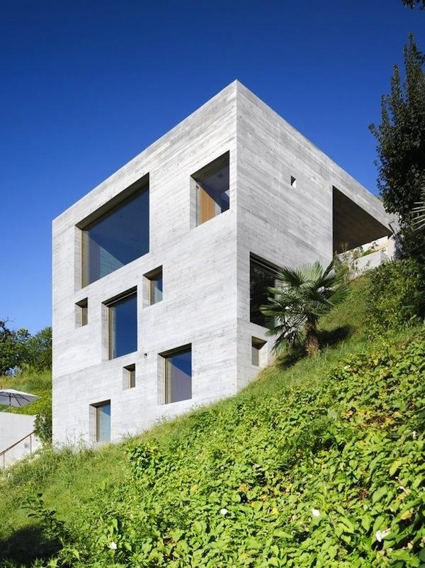 New Construction House by Wespi de Meuron Architekten #concrete #architecture #cube