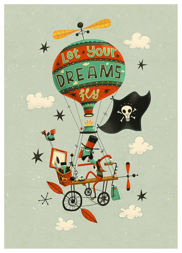 Let Your Dreams Fly on the Behance Network #machine #designs #design #conceptual #flying #illustration #steampunkesque #character #characters