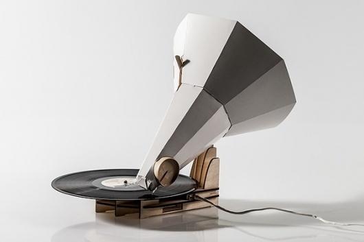 Jónófón on the Behance Network #helgi #design #retro #scandinavia #product #iceland #jn #paper #gramophone