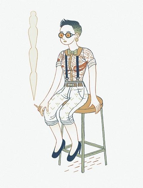 :O↷Ö↷O: #dimino #foster #illustration #drawn #sophia #hand