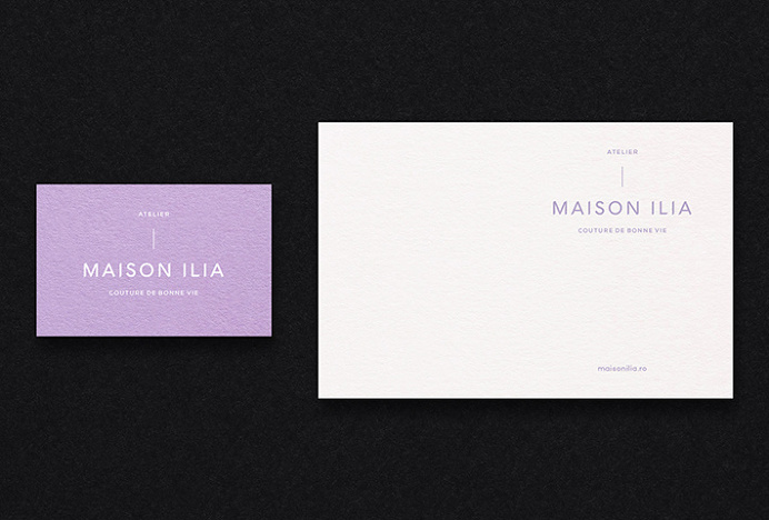 Maison Ilia by SilkEight #graphic design #print #stationary #business card