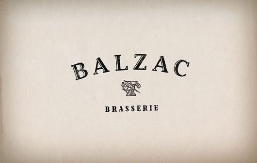Balzac Brasserie on the Behance Network #logo #identity #branding