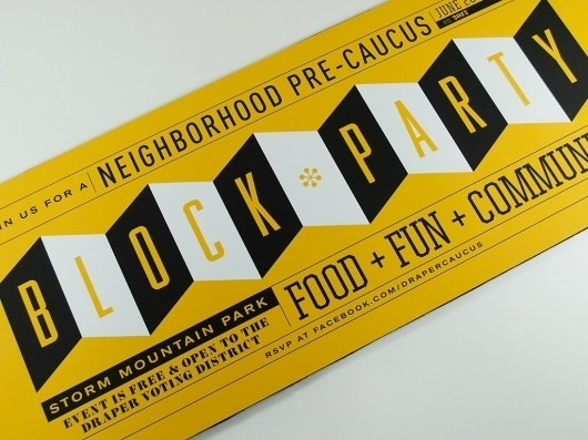 Block Party : Welcome #print #retro #invitation #typography