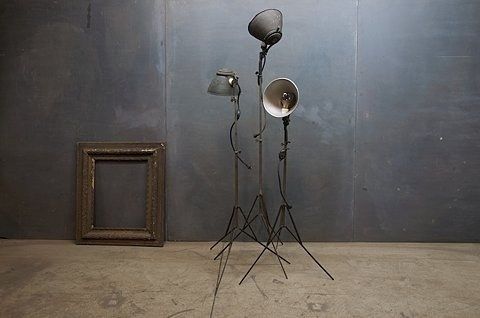 FFFFOUND! | 1930s Movie Set Tripods Floor Lamps : Factory 20 #interior #lamp #design #light