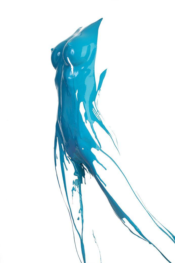 Playful Splashes of Paint Reveal Human Forms – Fubiz Media