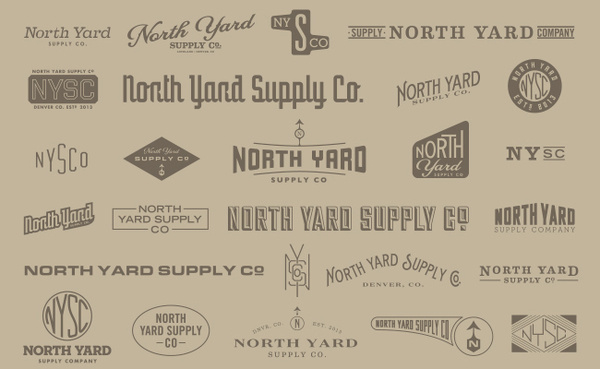 Visualgraphc #north #logos #lockup #yard #typography