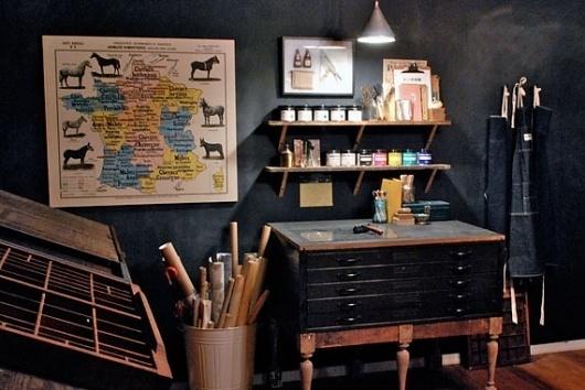 Google Reader (316) #ink #print #workshop #screen #printing #studio #workspace #organized