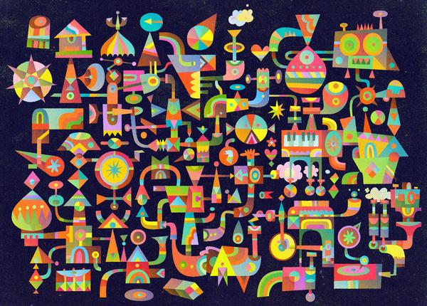 2012 : The World of C86 | Matt Lyon #illustration #color #shapes