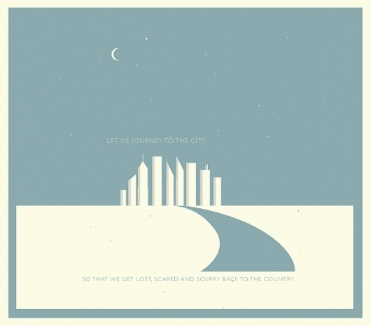the city #city #print #design #graphic #poster #neutral