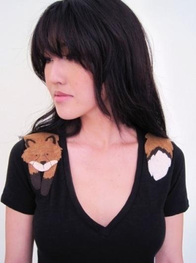 Wrapped Fox Tshirt in Black by dandyrions ($20-50) - Svpply #tshirt
