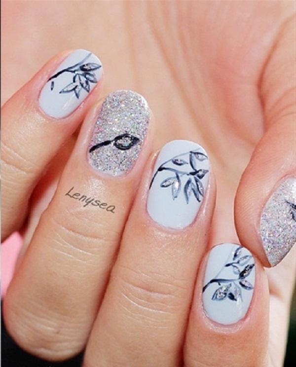 Best Nail Art 35 Leaf Ideas Images On Designspiration