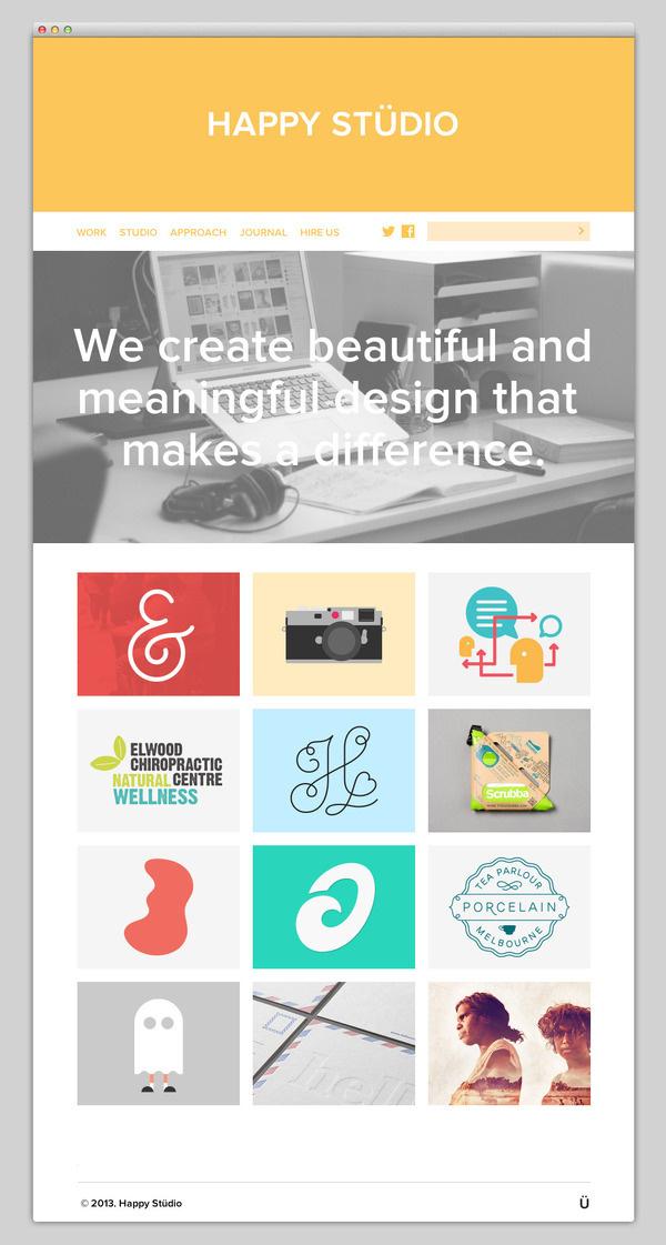 Happy Stüdio #website #layout #design #web