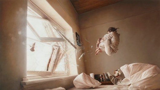 New work by Jeremy Geddes: A Perfect Vacuum   Colossal #painting #jeremy #geddes #art