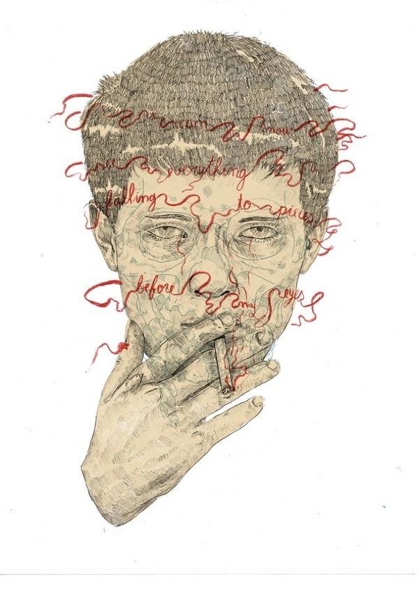 ian curtis / Self destruction by heymikel #illustration