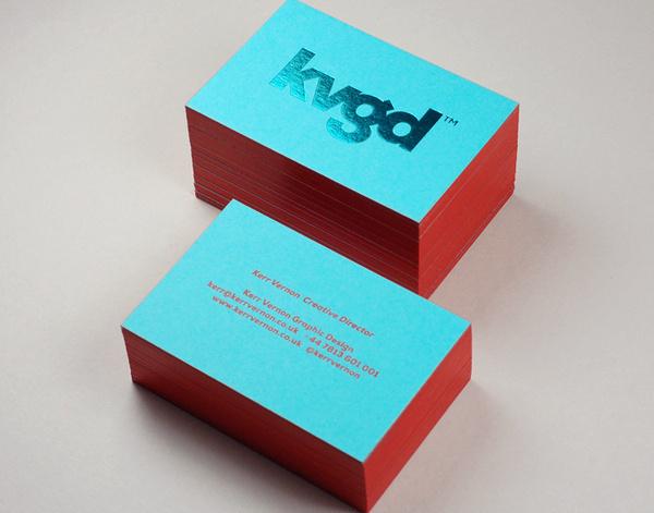 1KVGD #business #card #stamp #foil