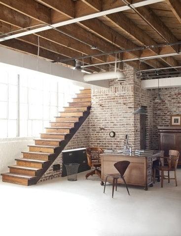 FFFFOUND! #interior #brick #rustic #design #wood #furniture #industrial