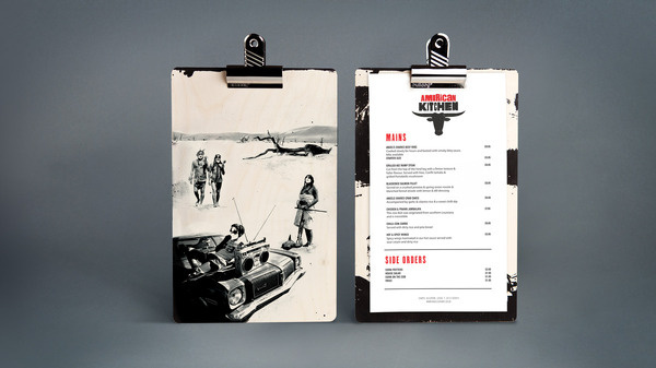 American Kitchen #menu #design #clipboard