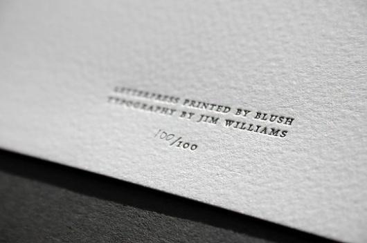 Blush°° Bespoke & custom letterpress printing in the UK #poster