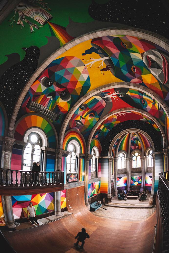 #mural #roof #streetart #skate