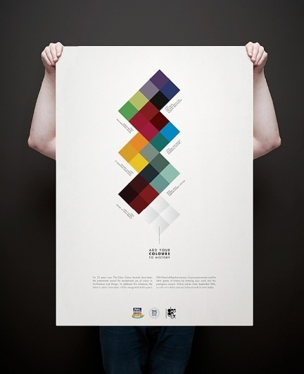 Dulux Colour Awards on the Behance Network #infographic #pattern #colours #poster
