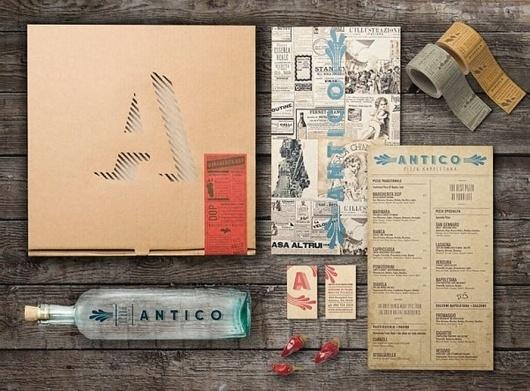 Antico PizzaNapoletana - TheDieline.com - Package Design Blog #logo #identity #pizza