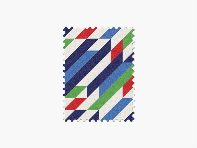 Italy #stamp #graphic #maan #geometric #illustration #minimal #2014 #worldcup #brazil