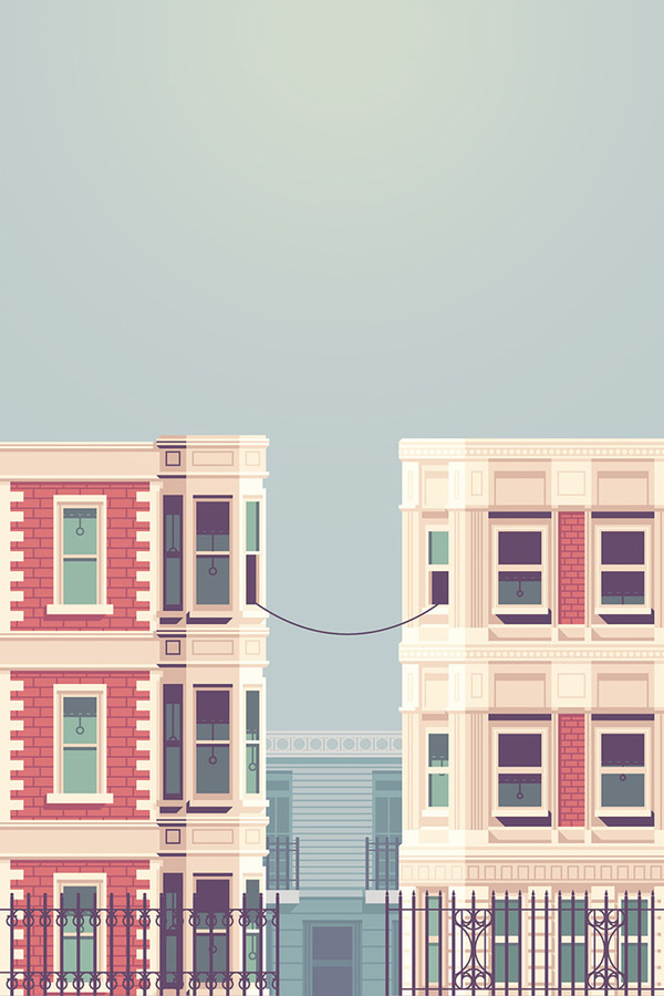La Telephone #illustration #buildings
