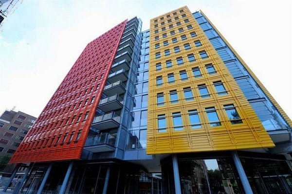 Central St Giles a modern and colorful building in London #bright #architecture #art #exterior #buildings