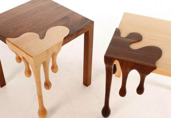 Amazing chocolate art funiture two fusion tables #tables #fusion #chocolate #furniture #art