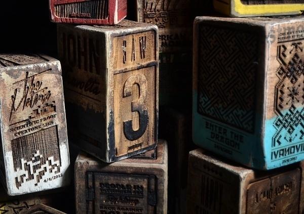 twitter news blocks - kudzd #riots #wooden #tactile #london #wood #illustration #lasercut #blocks #typography
