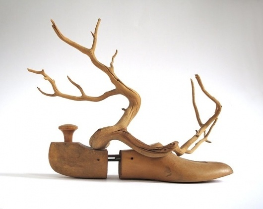 Dan Bina, Hermes #found #sculpture #bina #dan #wood #photography #art #object