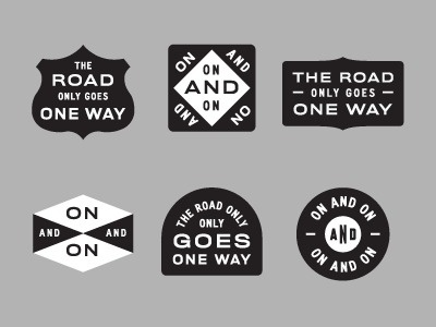 Dribbble - The Road by Dan Cassaro #old #form #logo #type #style