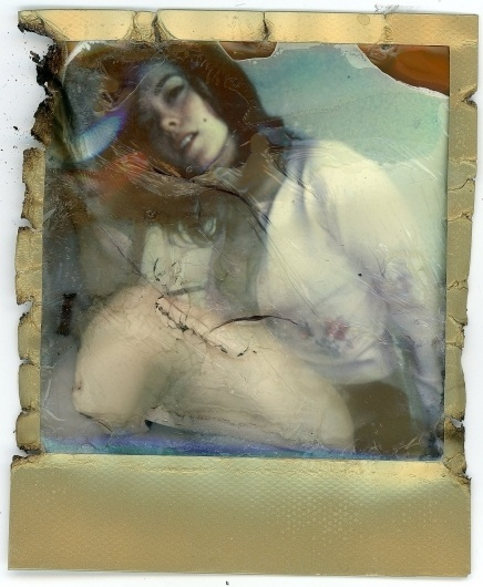 Instants Destroyed - By J. Caldwell #destroyed #photography #woman #polaroid
