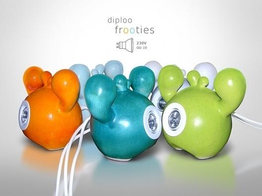 Diploo FROOTIES on the Behance Network #lamp #diploo #design #lighting #ceramic #funny