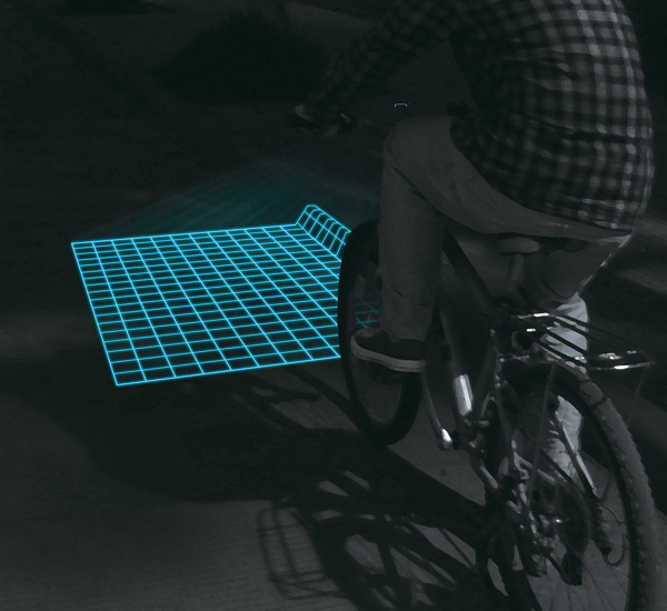 Riding on rough roads at night isn't easy — Lumigrids LED grids light makes this difficult task much safer. #design #product #industrial #outdoor #fun