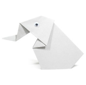 How to make a sitting origami elephant (http://www.origami-make.org/howto-origami-elephant.php)