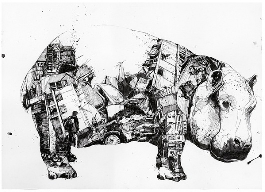 Chaos und Ordnung on the Behance Network #ink #animal #sketch #drawing
