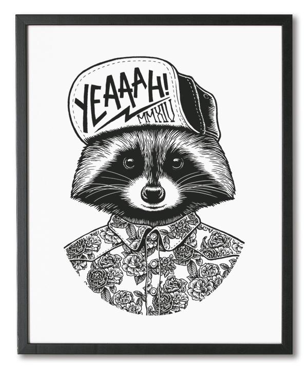 Art Prints on Behance #fox #print #screenprint #illustration #hat