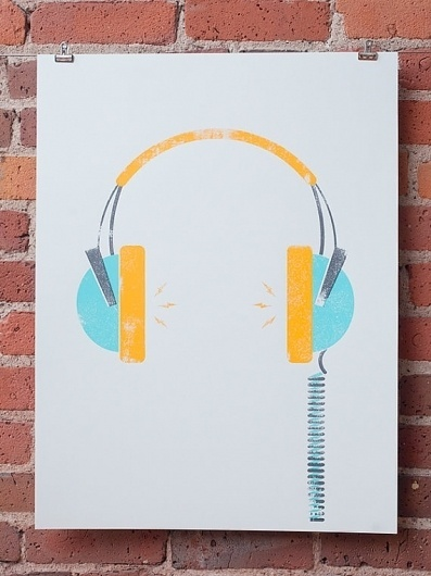 Headphones by johnnyandstacie on Etsy #illustration #headphones
