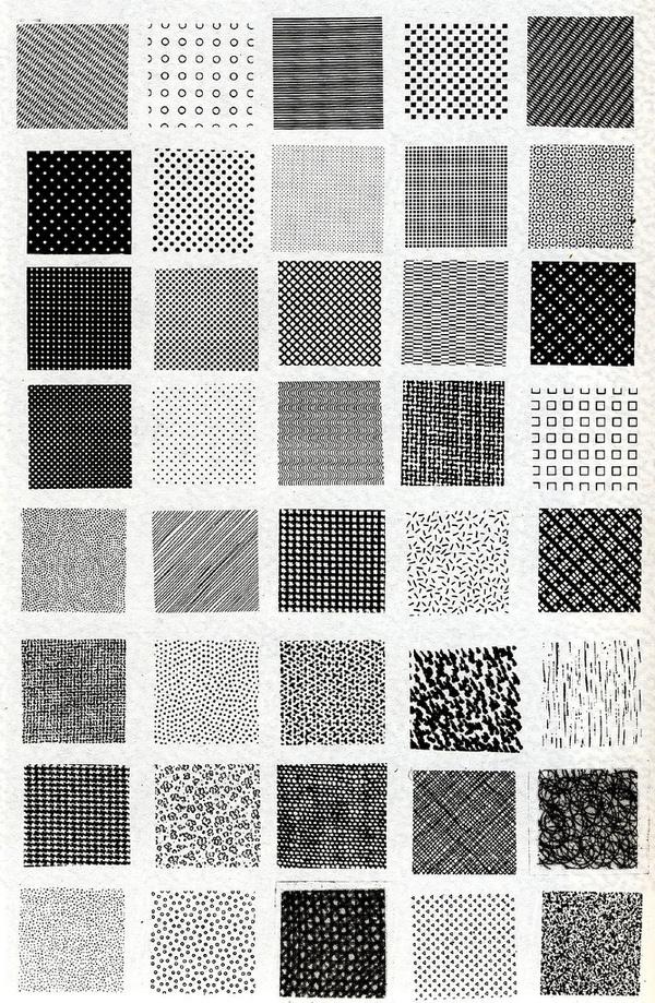 Bruno Munari, esempi di textures | Flickr Photo Sharing! #pattern