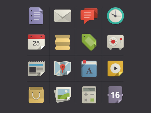 Flat icons with color #icons