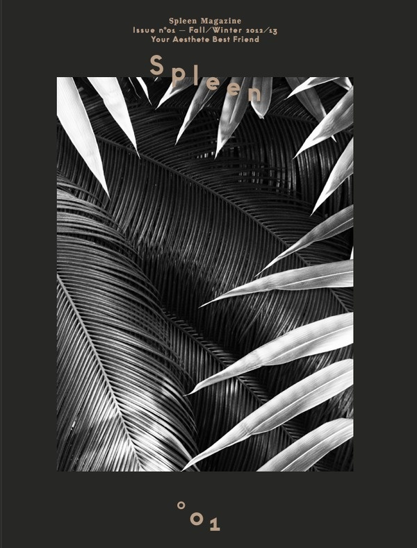 The issue 01 is officially out!SPLEEN Magazinen°01Cover bySacha MaricGraphic Design byAlberto MoreuandPiero Di Biase//T WO.ITCh #print #design #cover #magazine #typography