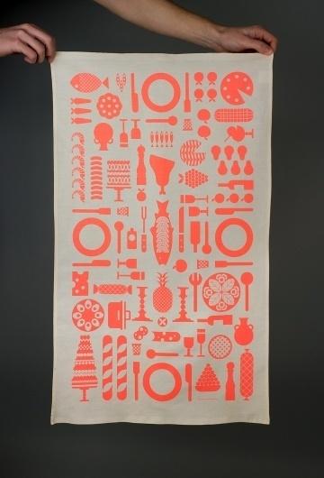 Tea Towel #vector #towel #christmas #scarf #illustration