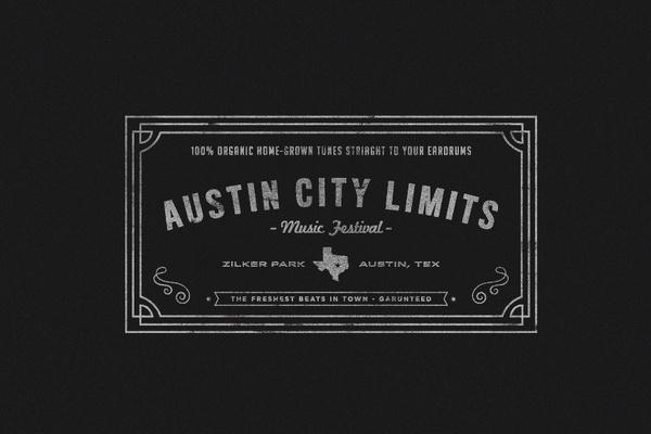 Austin City Limits #music #austin #festival #typography