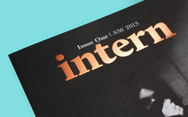 Intern Magazine Issue One Designed by She Was Only #cover #magazine #editorial #foil