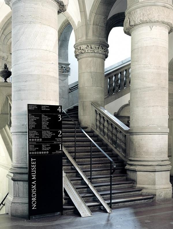 BVD — Nordiska museet #serif #wayfinding #culture #museet #bvd #signage #nordiska