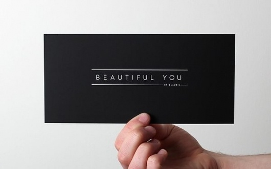 Beautiful You. on the Behance Network #card #black